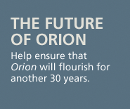 the future of orion